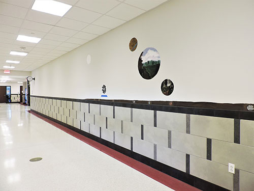 photo of historic mural at Hallowell Elementary School