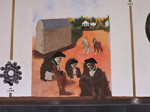photo Horsham Friends on Hallowell Elementary School Historical Mural