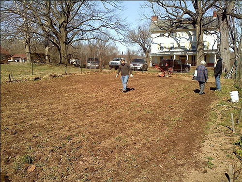 photo of tilled garden