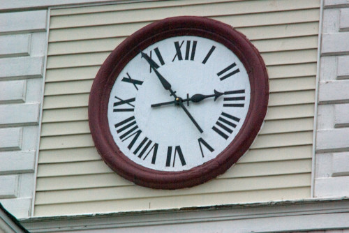 photo of clock in Loller Academy