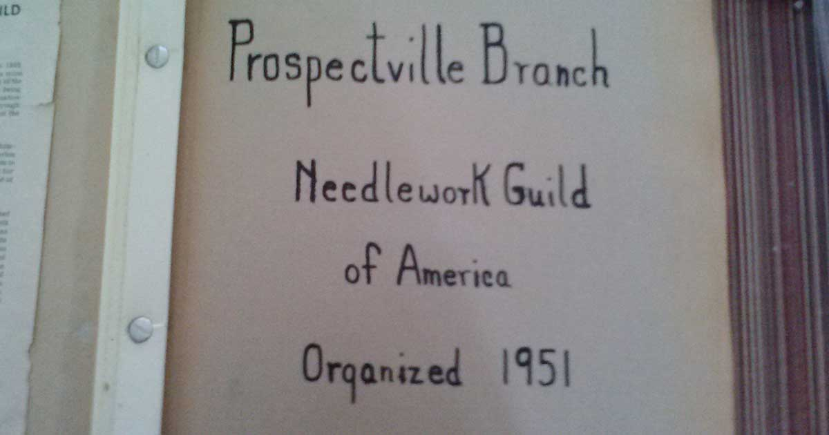 photo handbook from Prospectville Branch Needlework Guild of America