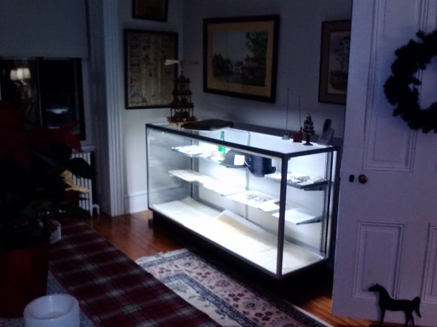 photo of lighted glass display case