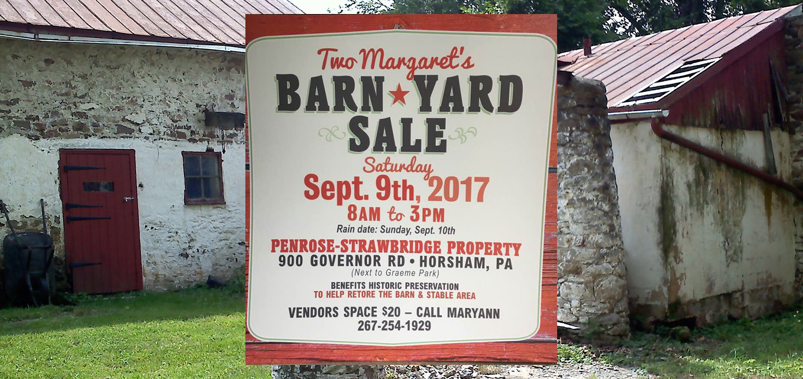 photo of barnyard sale sign